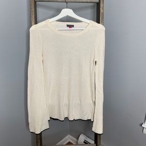 Vince Camuto Cream Long Sleeve Sweater